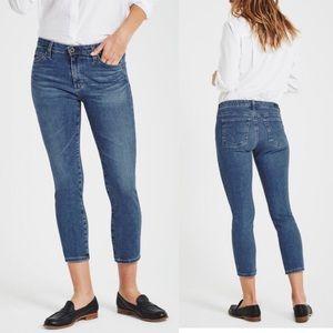 AG Jeans The Prima Crop Cigarette Mid Rise Jeans